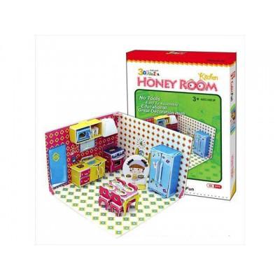 Cubic-Fun-C051-02H 3D Puzzle - Honey Room: Küche (Schwierigkeit: 3/8)