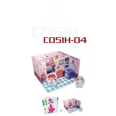 Cubic-Fun-C051-04H 3D Puzzle - Honey Room: Badezimmer (Schwierigkeit: 3/8)
