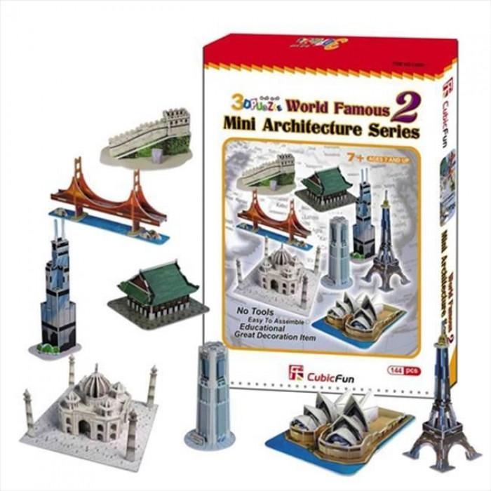 3D Puzzle - Mini Architektur Serie: Monumente der Welt (Schwierigkeit: 4/8)