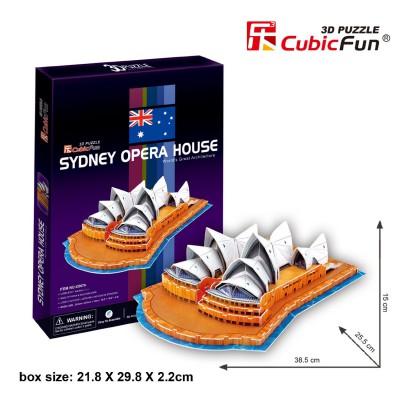 Cubic-Fun-C067H 3D Puzzle - Sydney Opera House (Schwierigkeit: 4/8)