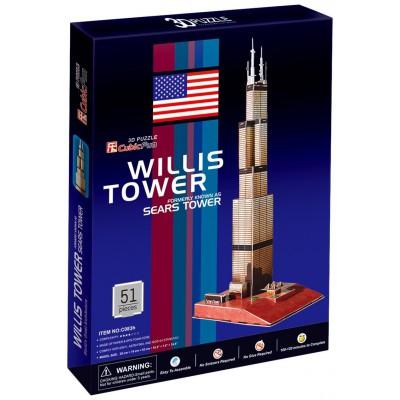 Cubic-Fun-C083H 3D Puzzle - Sears Tower de Chicago (Schwierigkeit: 4/8)