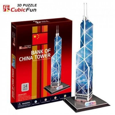 Cubic-Fun-C097H Puzzle 3D - Hong-Kong: Bank of China