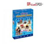 Cubic-Fun-C100H 3D Puzzle - Häuser von der Welt (Schwierigkeit: 3/8)