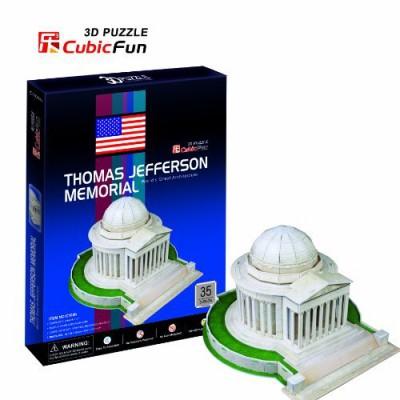 Cubic-Fun-C108H 3D Puzzle - Denkmal Thomas Jefferson (Schwierigkeit: 4/8)
