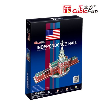 Cubic-Fun-C120H 3D Puzzle - Independence Hall, Philadelphia - Schwierigkeitsgrad: 4/8