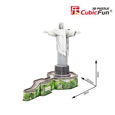 Cubic-Fun-C187H 3D Puzzle - Cristo Redentor - Schwierigkeit: 4/8