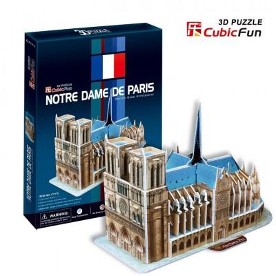 Cubic-Fun-C717H 3D Puzzle - Notre-Dame in Paris (Schwierigkeit: 4/8)