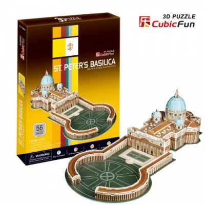 Cubic-Fun-C718H 3D Puzzle -  Sankt-Patersbasilika in Rom (Schwierigkeit: 4/8)
