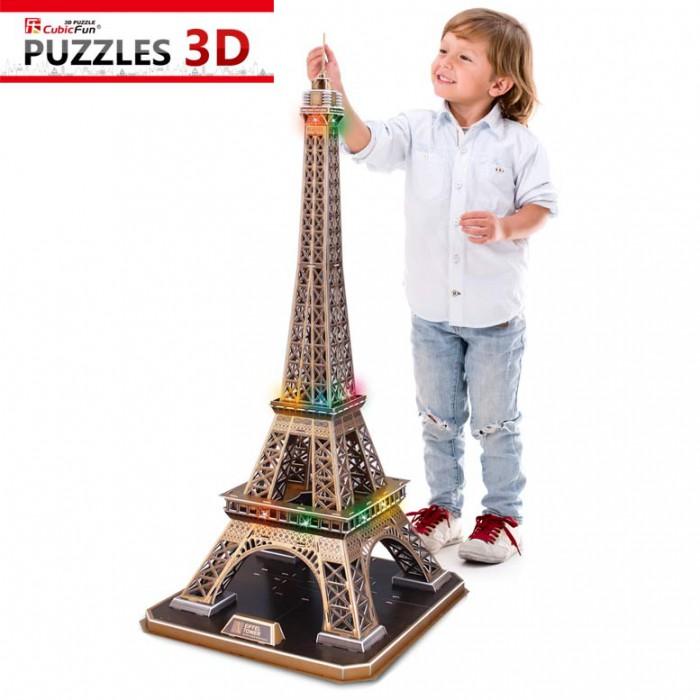 Puzzle 3D mit LED - Eiffelturm, Paris - Schwierigkeit: 6/8