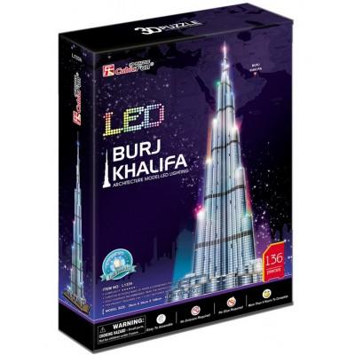 Cubic-Fun-L133H Puzzle 3D mit LED - Burj Khalifa, Dubai - Schwierigkeit: 6/8