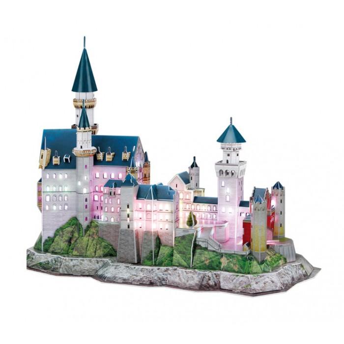 Puzzle 3D mit LED - Schloss Neuschwanstein - Schwierigkeit 6/8