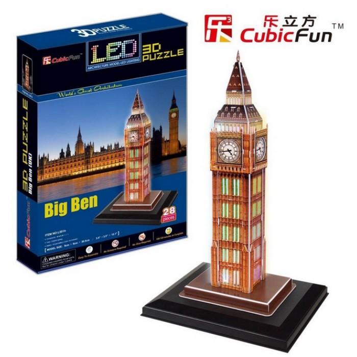 Puzzle 3D mit LED - London: Big Ben
