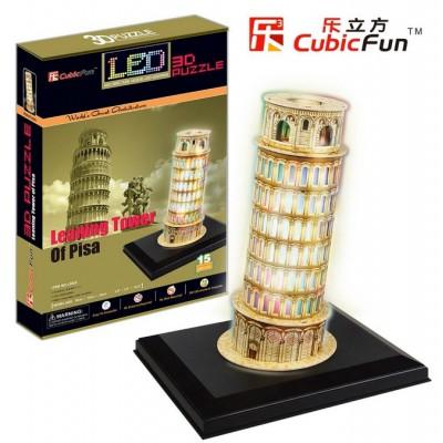Cubic-Fun-L502H Puzzle 3D mit LED - Schiefer Turm von Pisa