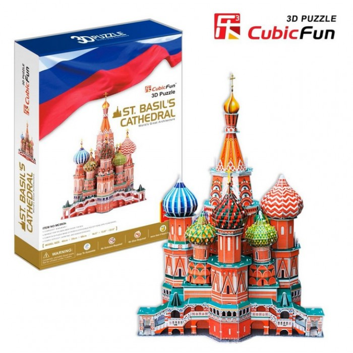 Puzzle 3D - Basilius-Kathedrale, Moskau