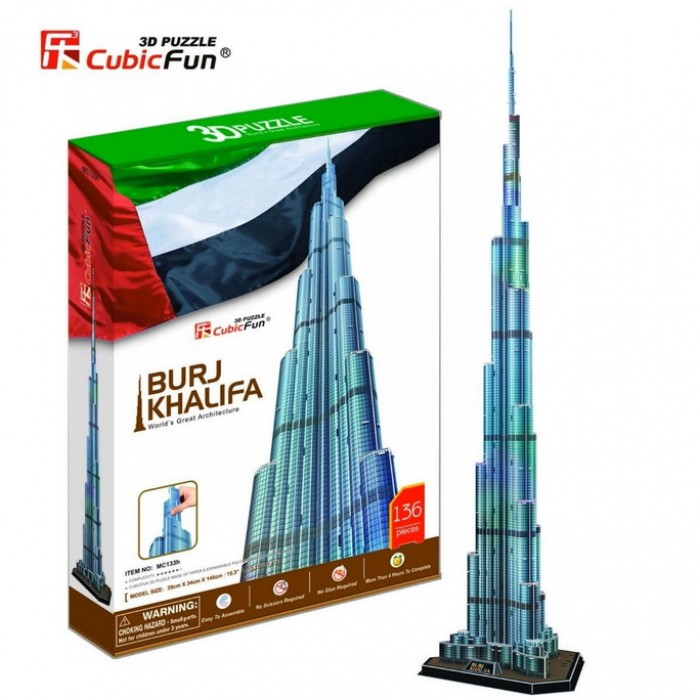 Puzzle 3D - Burj Khalifa, Dubai