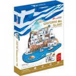 Cubic-Fun-MC195H 3D Puzzle - Santorin, Griechenland - Schwierigkeitsgrad: 5/8