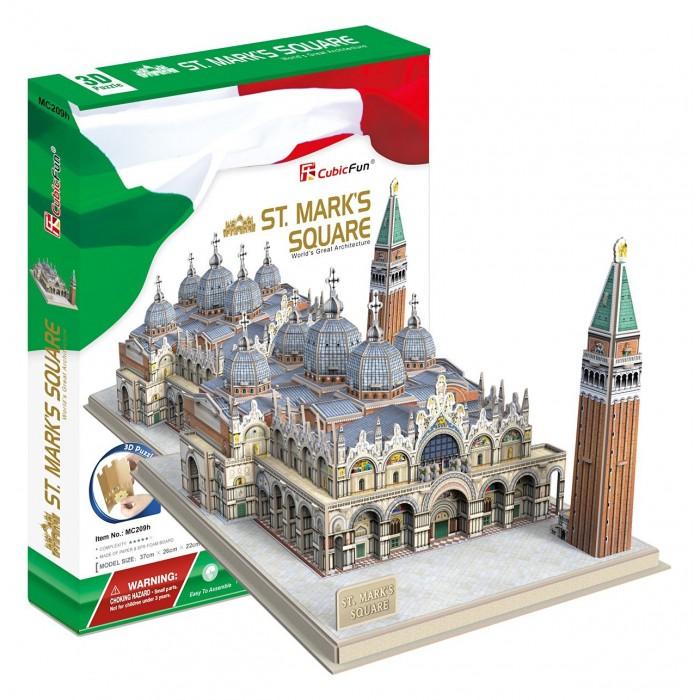 3D Puzzle - Markusdom Markusplatz, Venedig (Schwierigkeit: 5/8)