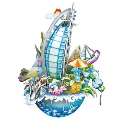 Cubic-Fun-OC3202 3D Puzzle CityScape - Dubaï - Schwierigkeit: 4/8