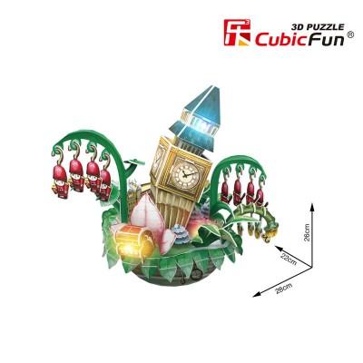 Cubic-Fun-OC3211L 3D Puzzle mit LED - Cityscape Collection - London (Schwierigkeit: 4/6)