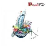 Cubic-Fun-OC3212L 3D Puzzle mit LED - Cityscape Collection - Dubai (Schwierigkeit: 4/6)