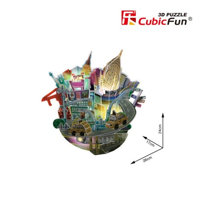 Cubic-Fun-OC3213L 3D Puzzle mit LED - Cityscape Collection - New York (Schwierigkeit: 4/6)