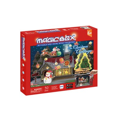 Cubic-Fun-OM3605h 3D Puzzle - Magic Box - The Christmas Cottage (Schwierigkeit: 4/6)
