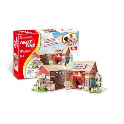 Cubic-Fun-P615H 3D Puzzle - Puppenhaus (Schwierigkeit: 4/8)