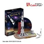 Cubic-Fun-P653H 3D Puzzle - Saturn V