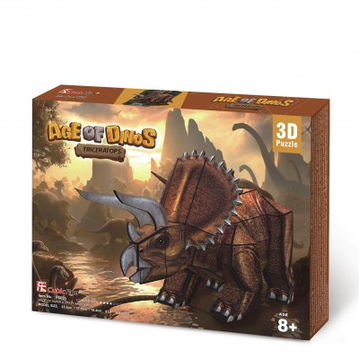 Cubic-Fun-P669h 3D Puzzle - Triceratops Dinosaurier