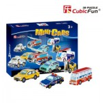 Cubic-Fun-S3019H Puzzle 3D Mini - Fahrzeuge