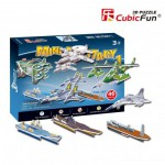 Cubic-Fun-S3022H Puzzle 3D Mini - Militärflugzeuge und Schiffe