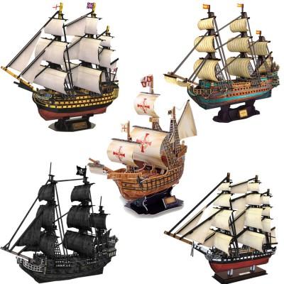 Cubic-Fun-Set-Boat 5 3D Puzzles - Set Segelschiffe