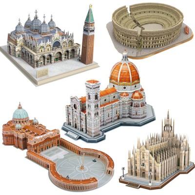 Cubic-Fun-Set-Italy 5 3D Puzzles - Italien