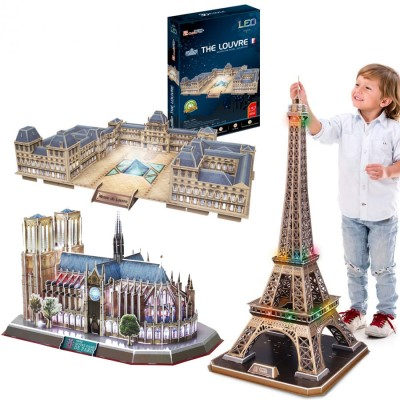 Cubic-Fun-Set-Paris 3 3D Puzzles - Paris
