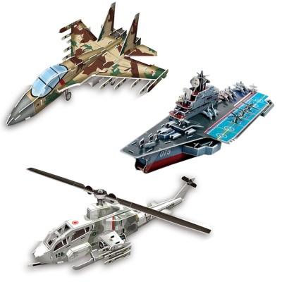 Cubic-Fun-Set-Super-Military 3 3D Puzzles - Set Super Military