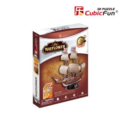 Cubic-Fun-T4009H 3D Puzzle - May Flower (Schwierigkeit: 4/8)
