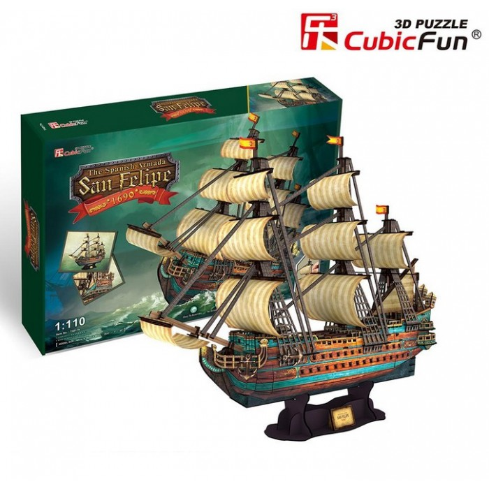 3D Puzzle - Die Spanische Armada: San Felipe - Schwierigkeitsgrad: 8/8