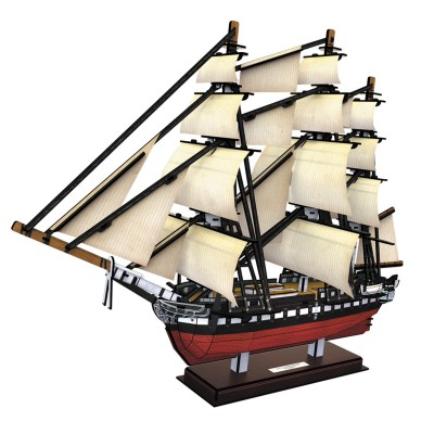 Cubic-Fun-T4024h 3D Puzzle - USS Constitution (Schwierigkeit: 5/6)