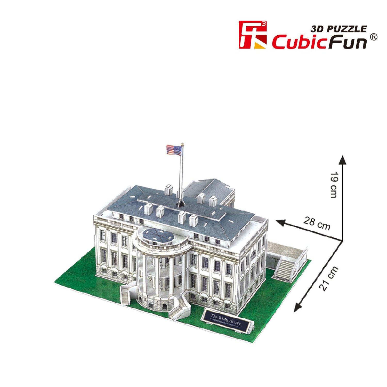 puzzle 3d washington weisses haus 65 teile cubic fun puzzle online kaufen. Black Bedroom Furniture Sets. Home Design Ideas