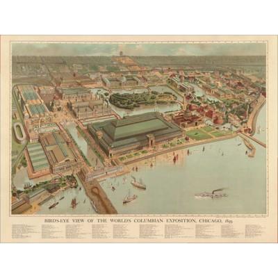 Puzzle Pomegranate-AA740 Weltausstellung 1893