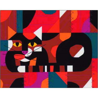 Puzzle Pomegranate-AA764 Verrückter Katzenquilt