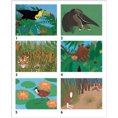 Pomegranate-PB011 Susan Stockdale's Animals Block Puzzle