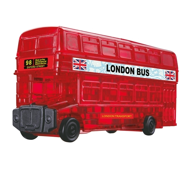 3d puzzle aus plexiglas london bus 53 teile hcm kinzel puzzle online kaufen. Black Bedroom Furniture Sets. Home Design Ideas