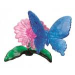 HCM-Kinzel-59125 3D-Puzzle aus Plexiglas - Die Blume und der Schmetterling