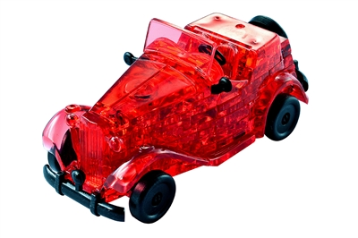 HCM-Kinzel-59135 3D-Puzzle aus Plexiglas - Rote Oldtimer