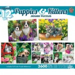 12 Puzzles - Puppies & Kittens