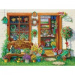 Puzzle  Master-Pieces-61407 Fancy Flower Shoppe