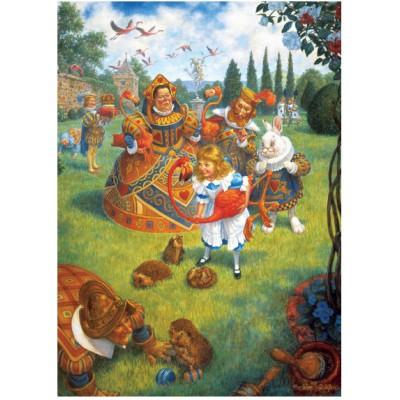 Puzzle Master-Pieces-71263 Die Herzenkönigin spielt Krocket