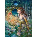Puzzle  Master-Pieces-71564 Kinuko Y. Craft: Wildwood Dancing - Glitter