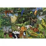 Puzzle  Cobble-Hill-50702 Arche Noah: Zwei von jeder Art
